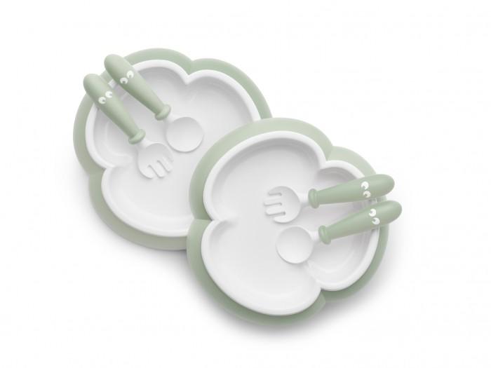 BabyBjorn Комплект (2 тарелки, 2 ложки, 2 вилки) однотонные фото
