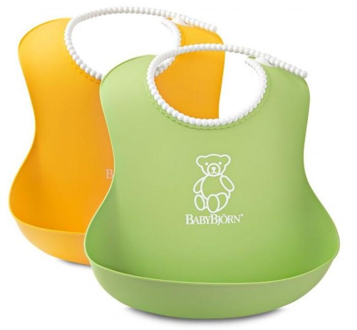 Аксессуары для кормления , Нагрудники BabyBjorn мягкий с карманом 2 шт. арт: 35078 -  Нагрудники