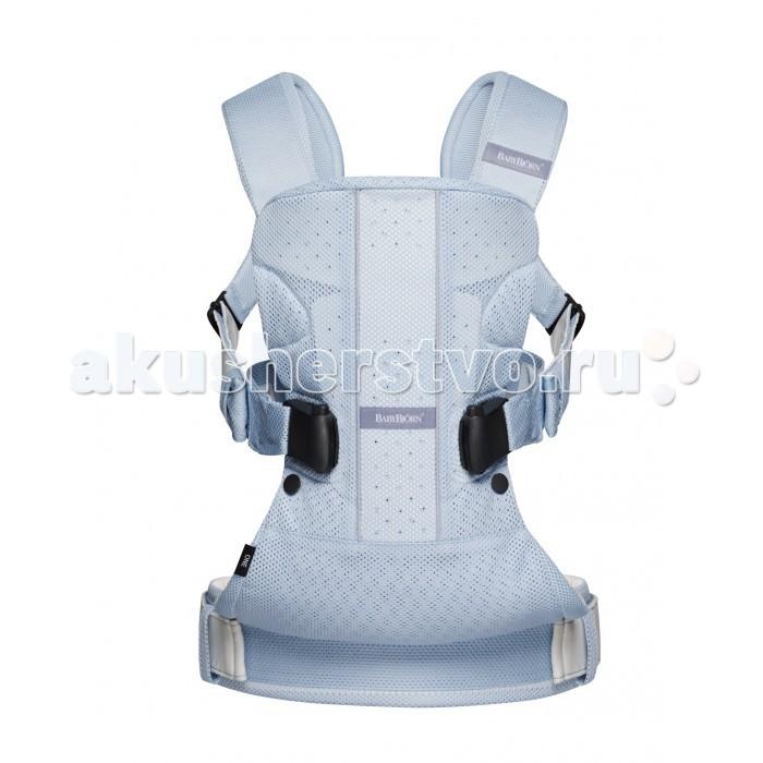Рюкзак-кенгуру BabyBjorn One Air MeshOne Air MeshBABYBJ&#214;RN Рюкзак-кенгуру One Air Mesh обеспечит эргономичность в ношении ребёнка и максимальный комфорт как для вас, так и для малыша.  Он подходит для детей от рождения приблизительно до трёх лет (от 3,5 кг/53 см до 15 кг/100 см). Этот рюкзак-кенгуру разработан при участии педиатров и обеспечивает необходимую поддержку для головы, спины и ног ребёнка. Мы надеемся, что вам и вашему малышу понравится это изделие, и будем рады получить ваши вопросы и комментарии.  Особенности:  возможность ношение ребенка как спереди так и сзади  подходит для ношения детей с рождения до 3-х лет  поддержка для головы  ремешок для ног малыша  молнии для регулировки положения ног  сетка Mesh  Материал:  Хлопок с добавками Основной материал: хлопок 60%, полиэстер 40% Подкладка: хлопок 100% Подкладка поясного ремня: полиэстер 100%<br>