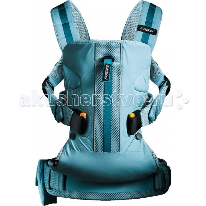 Рюкзак-кенгуру BabyBjorn ONE OutdoorsONE OutdoorsBABYBJORN рюкзак-кенгуру ONE outdoors - многофункциональный рюкзак-кенгуру для ношения ребёнка на груди и на спине.   Специально для современных активных родителей Оптимальная эргономика рюкзака при минимальном весе Сочетание функционала рюкзака-кенгуру и спортивной сумки Идеальный рюкзак-кенгуру для переноски детей с рождения и до 3-х лет  Для ценителей городских прогулок и загородного семейного отдыха рюкзак-кенгуру One Outdoors дарит еще больше возможностей для совместного активного времяпрепровождения. С рюкзаком-кенгуру One Outdoors прогулки на свежем воздухе для родителей и познание окружающего мира для ребенка будут максимально комфортными. Дополнительный функционал рюкзака-кенгуру помогает разместить в нем, помимо ребенка, все то, что обычно помещается в дорожную сумку.  Преимущества рюкзака-кенгуру BABYBJORN One Outdoors:  Спортивный стиль. За счет рестайлинга популярной модели One новый рюкзак- кенгуру BABYBJORN One Outdoors приобрел отчетливый спортивный характер. Он подчеркивается оранжевыми элементами на фурнитуре и дополнительной тесьмой, расположенной по центру рюкзака. Тесьма играет роль регулятора поддержки головы ребенка. С ее помощью можно отвернуть верхнюю часть рюкзака, когда малыш сидит лицом вперед. Дополнительные детали для большего комфорта. Рюкзак-кенгуру снабжен дополнительным внешним карманом и петельками на плечевых ремнях, с помощью которых можно закрепить любимую игрушку малыша, соску-пустышку, салфетки, пеленку и другие необходимые мелочи во время прогулки с маленьким ребенком. Ваши руки всегда остаются свободными! Водоотталкивающая и влагостойкая ткань. Конструкторы компании BABYBJORN продумали и материал, неприхотливый и практичный в походных условиях. Рюкзак-кенгуру One Outdoors выполнен из прочной ткани с влагостойким и водоотталкивающим эффектом. Преимущества материала в том, что его легко стирать, он быстро высыхает, с такой ткани можно в считанные секунды убрать легкие загрязнени