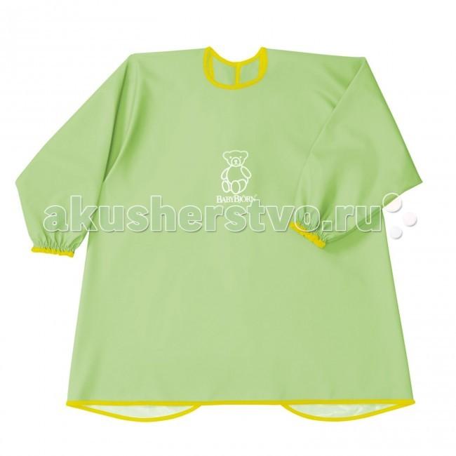 Нагрудник BabyBjorn Рубашка для кормленияРубашка для кормленияМягкая и практичная рубашка Baby Bjorn надежно защитит одежду вашего ребенка. Рубашка имеет крепкие, надежные завязки на спине и мягкие, эластичные манжеты. Рубашка защищает одежду малыша сзади и спереди от воды, еды, красок и всего того, что можно пролить или от того, чем можно испачкаться.  Размер упаковки: 27 x 26 x 1 см Вес в упаковке: 135 г Длина ворота: 46 см Длина рукава: 41 см Используется с 6-8 месяцев до 3 лет.<br>