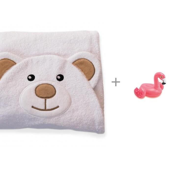 BabyBunny Полотенце с капюшоном Мишка и игрушка надувная Зверюшки INTEX от BabyBunny