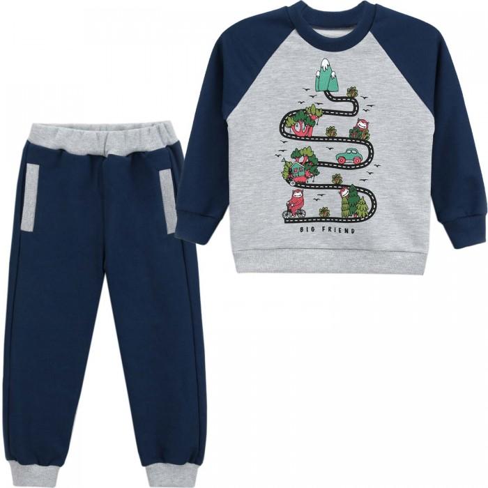 Комплекты детской одежды Babycollection Комплект для мальчика (свитшот и брюки) Веселая дорога