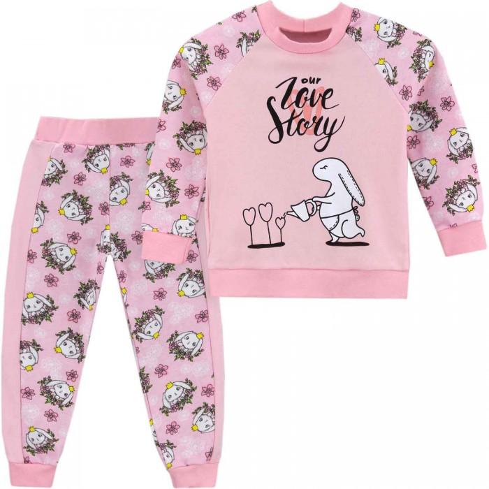 Фото - Комплекты детской одежды Babycollection Костюм для девочки (свитшот, брюки) Love story комплекты детской одежды клякса спортивный костюм для девочки 22 2062
