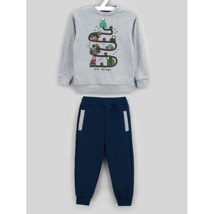Комплекты детской одежды Babycollection Костюм для мальчика (свитшот, брюки) Веселая дорога