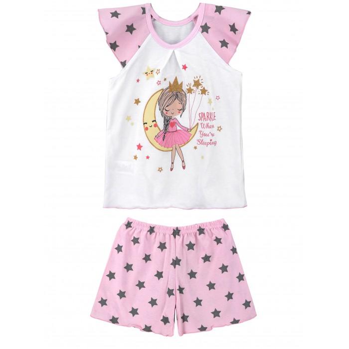Домашняя одежда Babycollection Пижама для девочки (майка, шорты) Принцесса-луна