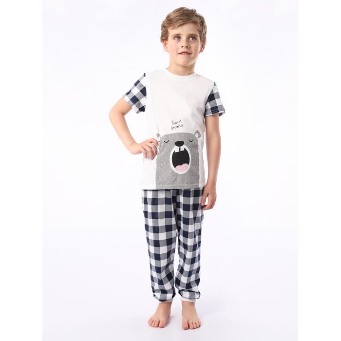 Домашняя одежда Babycollection Пижама для мальчика Сонный мишка