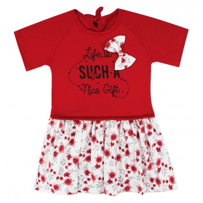 Платья и сарафаны Babycollection Платье с коротким рукавом Цветы фото