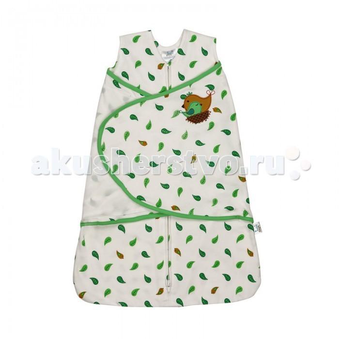 Спальный конверт BabyDays на молнии и липучке Sleeping Birdна молнии и липучке Sleeping BirdСпальный конверт BabyDays на молнии и липучке - это простой и безопасный способ укрывать и пеленать малыша. Модель спроектирована с учетом максимальной безопасности и комфорта, заменяя традиционные одеяльца, которые могут закрыть малышу лицо и затруднить дыхание.  • Безрукавный крой снижает риск перегрева. • Свободный крой не сковывает движения, что важно для правильного развития тазобедренного сустава. • Безопасная молния застёгивается сверху вниз, что делает удобным смену подгузников и не травмирует подбородок малыша. • Модель спального конверта позволяет держать руки малыша как внутри, так и снаружи. Два способа пеленания малыша показаны на инструкции по использованию. • Качественный трикотаж (плотность 210 гр/м). Материал не растягивается и не линяет после стирки, хорошо впитывает влагу, позволяет коже дышать.  Состав: 100% хлопок Размер: 48-58 см. (0-3, NB), 58-66 см. (3-6, S)<br>