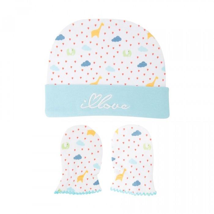 Шапочки и чепчики HappyBabyDays Шапочка и рукавички-антицарапки It rains love uviton комплект шапочка и рукавички антицарапки