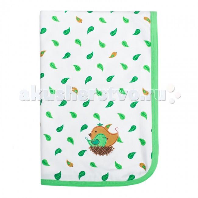 Пеленки HappyBabyDays трикотажная Sleeping Bird 76х101 см happybabydays плед двухсторонний нежность