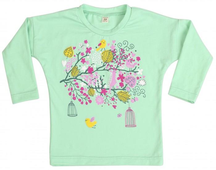 Водолазки и лонгсливы Babyglory Лонгслив для девочки Spring Forest