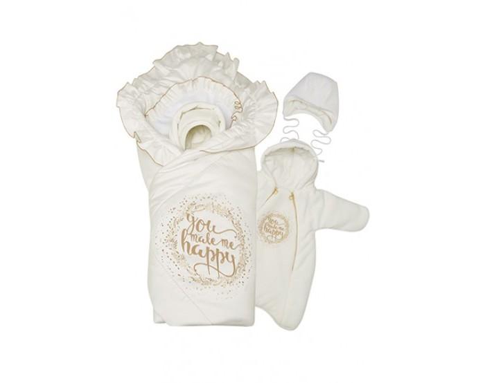 Купить Конверты на выписку, Babyglory Комплект на выписку Счастье зима (4 предмета)