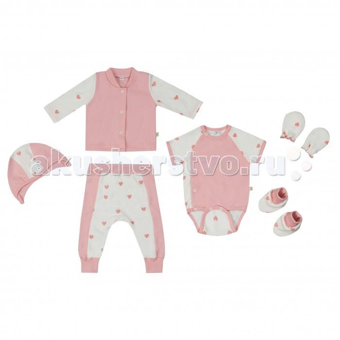Детская одежда , Комплекты детской одежды Babygold Комплект Сердечки 6 предметов арт: 359149 -  Комплекты детской одежды