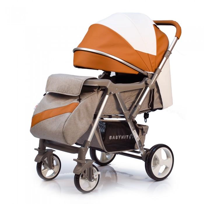 Прогулочная коляска BabyHit Sense EcoПрогулочные коляски<br>Babyhit Коляска прогулочная Sense Eco - удобная, мобильная модель предназначенная для городских прогулок и путешествий.  Особенности: Прогулочная коляска с перекидной ручкой Ткань капюшона - экокожа. Ненадувные колеса Передние одинарные поворотные колеса  Регулируемая до положения лежа спинка  Регулируемая подножка  Съемный столик-поручень Вместительная багажная корзина Большой козырек Амортизация на всех колесах 5-ти точечная система ремней безопасности сиденья Размеры Размеры коляски: 96 х 59 х 105 см (ДхШхВ) Размеры в сложенном виде: 95 х 59 х 30 см (ДхШхВ) Размер спального места: 90 х 36 см (ДхШ) Ширина сиденья: 36 см Длина сиденья: 28 см Высота спинки: 43 см Высота до ручки: 99-101 см Диаметр колес: 17,5 см 23,5 см Масса: 9,8 кг Комплектация: накидка на ножки, дождевик, москитная сетка.