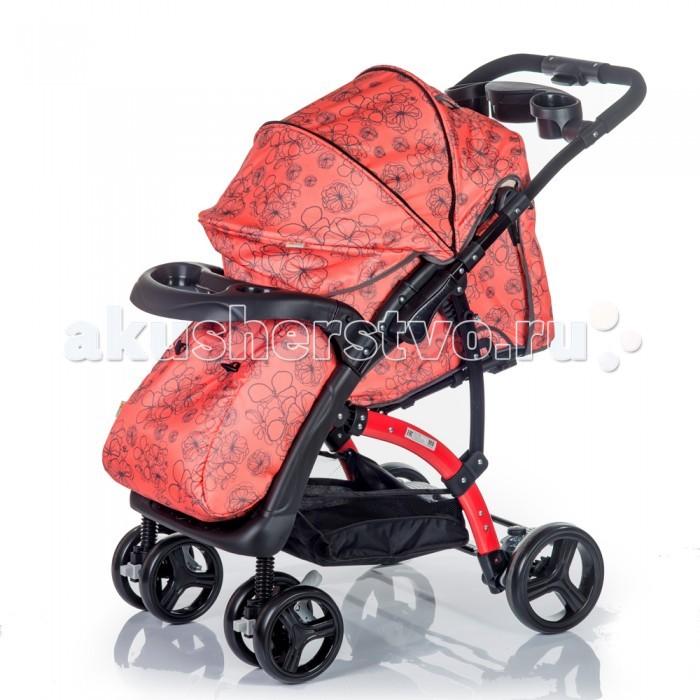 Прогулочная коляска BabyHit FloraFloraСовременный европейский дизайн прогулочной коляски Baby Hit Flora сочетает в себе эргономичность и простоту. А ее комплектация и аккуратность деталей наверняка оценит и мама, и малыш. Яркие сочные ткани, приятный цвет рамы и пластиковых элементов делают коляску эффектной внешне и очень практичной в пользовании. Удобные ячейки на родительской ручке, подстаканники для бутылочек, удобный подносик-поручень для ребёнка позволят Вам как можно дольше находится на свежем воздухе с Вашим малышом, вооружившись необходимым принадлежностями для малыша.   Ребёнок сможет в колясочке поиграть, покушать, уютно поспать и даже спрятаться от сильного ветра или дождя под глубоким капюшоном - батискафом. Очень важный элемент коляски - перекидная ручка, благодаря которой можно менять положение коляски относительно мамы.  Особенности коляски: Подходит для детей от 6 – 36 мес Ширина посадочного места – 35 см Съемный поручень в виде удобного подносика Покраска рамы и всех пластиковых деталей Амортизация на всех колесах 5-титочечный ремень безопасности Регулируемая подножка Перекидная ручка Наличие капюшона-батискафа Положение спинки – до 175 градусов  Размеры:  Глубина сидения – 20 см Ширина сидения – 35 см Подножка – 13 см Спинка – 40 см  В комплекте: Полог на ножки Дождевик Москитная сетка Корзина для продуктов<br>