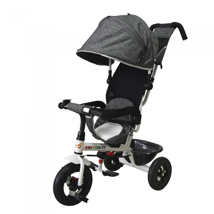 Велосипед трехколесный BabyHit Kids Tour XTKids Tour XTТрехколесный велосипед Baby Hit Kids Tour XT альтернатива летней прогулочной коляске и одновременно велосипед с хорошей проходимостью и продуманными деталями конструкции.  Особенности: Для детей в возрасте от 1,5 до 5 лет.  Вращающееся сиденье  Блокировка педалей  Тормоз на задних колесах  Высокая спинка  Надувные колеса  Капюшон с козырьком  Выдвижная подставка для ног  Разъемный поручень с паховым ремнем  Пластиковая багажная корзина  Сумочка на ручке  Размеры: 93 х 45 х 105 см (ДхШхВ)  Высота до ручки:  98-103 см  Диаметр переднего колеса: 25.5 см  Диаметр задних колес: 21.6 см  Вес: 10.8 кг<br>