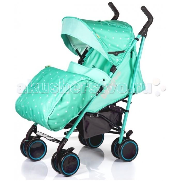 Коляска-трость BabyHit LuckyLuckyКоляска-трость BabyHit Lucky обеспечивает малышу необходимый на прогулках и в поездках уровень комфорта и безопасности, и в то же время не станет обузой в дороге для мамы. Для поездок по бездорожью и штурма сугробов есть утепленные, и, зачастую, громоздкие прогулочные коляски на больших надувных колесах, но для общественного транспорта и прогулок по городу летом и в межсезонье нужна легкая, компактная и удобная коляска-трость.   Особенности: сдвоенные передние поворотные колеса с фиксацией в положении прямо  регулируемые ручки капюшон батискаф  съемный поручень с паховым ремнем система амортизации на всех колесах регулируемая до положения лежа спинка регулируемая подножка 5-ти точечная система ремней безопасности вместительная багажная корзина смотровое окно в капюшоне диаметр колес: 16,5 см вес: 7,5 кг. Накидка на ножки, дождевик и москитная сетка уже входят в комплект, так что маленький путешественник будет готов к любым капризам погоды.<br>