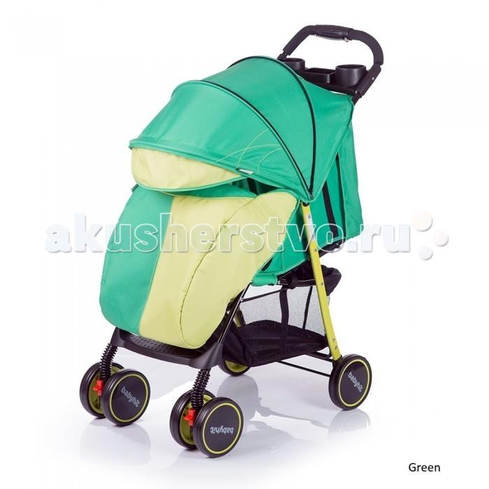 Прогулочная коляска BabyHit SimpySimpyПрогулочная коляска BabyHit Simpy - удобная, мобильная модель предназначенная для городских прогулок и путешествий.  Вес коляски менее шести кг. плюс облегченная система складывания позволяют переносить и складывать ее одной рукой. Вытягивающийся капюшон в купе с пологом обеспечивают надежную защиту от непогоды. Спереди установлены сдвоенные колеса вращающиеся на 360 гр. с фиксацией направления. Для максимальной плавности хода все колеса снабжены амортизацией.   Особенности:   Легкая прогулочная коляска.  Сдвоенные передние колеса с функцией фиксации в положении «прямо»  Складывание одной рукой  Капюшон «батискаф»  3 положения наклона спинки (сидя, полулежа, лежа)  Регулируемая подножка  Съемный поручень с паховым ремнем  3-х точечная система ремней безопасности  Столик с подстаканниками и бардачком на ручке  Вместительная багажная корзина  Амортизация на всех колесах    В комплекте:   полог,   москитная сетка    Размеры:   - спальное место: 68х32 см (ДхШ) - ширина сиденья: 32 см - длина сиденья:  20 см - высота спинки:  39 см - высота до ручки: 101 см<br>
