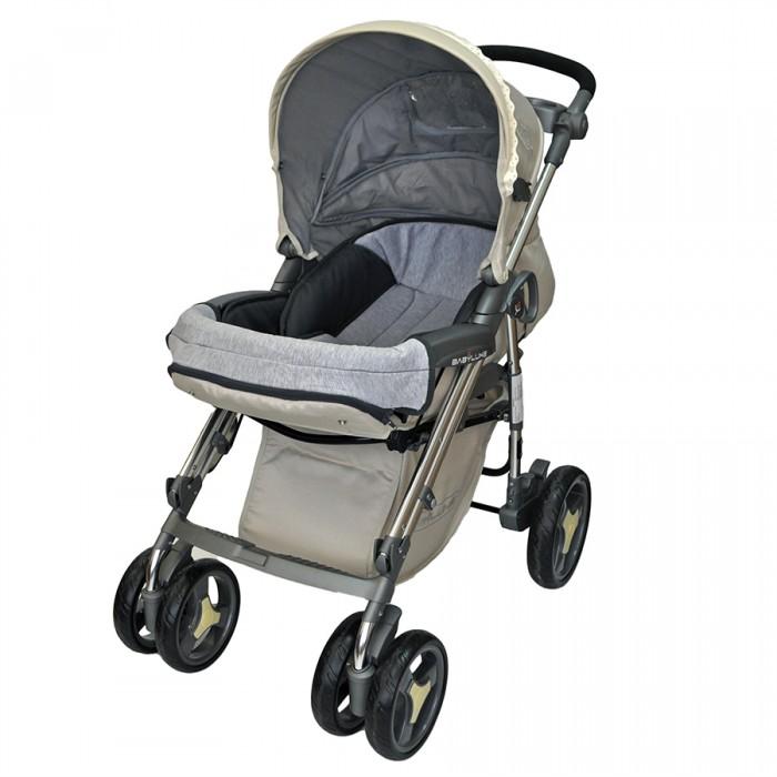 Прогулочная коляска Babylux 207B207BПрогулочная коляска Babylux 207B. Многофункциональная модель для детей до 3-х лет очень маневренная, надежная и комфортная. Она сделана из качественных и продуманных материалов.   Стильный дизайн и красивая, модная расцветка. Компактный и простой механизм складывания - книжка. Сиденье устанавливается в двух положениях относительно движения (Reverse). У него высокие и мягкие бортики. Ребенка можно пристегнуть пятиточечными ремнями безопасности с мягкими накладками. Бампер пластиковый. Его можно снимать.  Особенности: Сплошная ручка с лотком для напитков Колеса небольшие. На каждом есть амортизация Передние колеса поворачиваются на 360 градусов, а на задних есть тормоза Металлическая рама очень прочная Под сиденьем есть вместительная корзина Удобная подставка для ног. Ее можно мыть Подножка регулируется и устанавливается в двух положениях Четыре положения спинки коляски, включая горизонтальное, позволит придать удобное положение малышу Капюшон очень большой. Хорошо закрывает от солнца Держатель для бутылочки. Чехол на ножки Вес: 12.5 кг.<br>