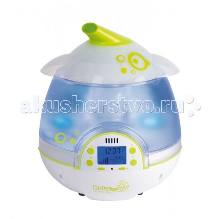 Babymoov Цифровой увлажнитель воздухаЦифровой увлажнитель воздухаЦифровой увлажнитель воздуха Babymoov   Очищает и увлажняет воздух в комнате  Регулируемый выход холодного пара (ультразвук)  Распыление 360 градусов  Программирование уровня влажности и времени работы  Автоматическая настройка уровня влажности  Автоматическое отключение при критичном уровне воды - визуальный сигнал.  Защита от детей - все кнопки могут быть забронированы  Возможность использования аромамасел (съемный диффузер)  Функция ночника   Технические характеристики:   Рассчитан на помещение площадью: от 8 до 20 м2  Максимальная продолжительность работы без доливки воды: 10 часов  Испарения: от 170 до 250 мл./час  Объем 2.5 литра  встроенные гигрометр и термометр  автономная работа от 8 до 22 часа (зависит от настроек)  бесшумная работа  жидкокристаллический экран голубого цвета<br>