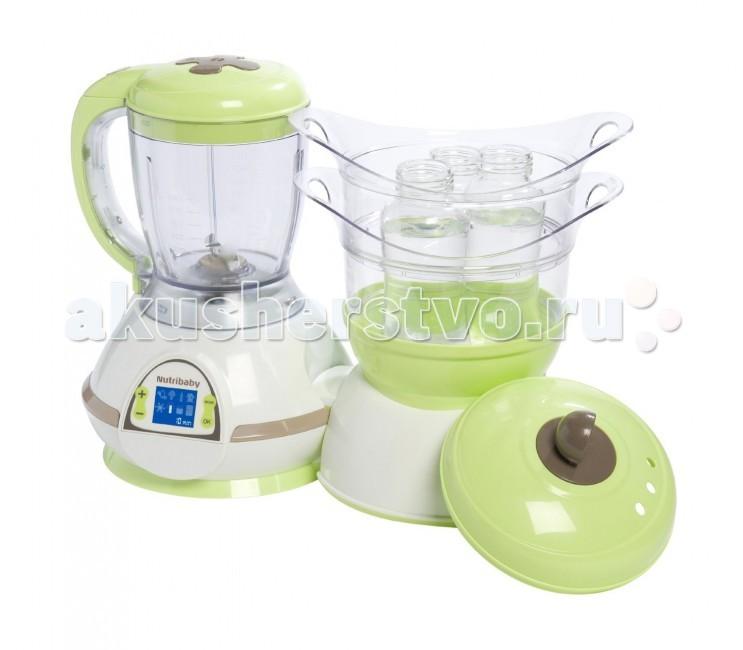 Babymoov Комбайн NutribabyКомбайн NutribabyBabyMoov Nutribaby многофункциональный кухонный прибор, который поможет Вам не только готовить вкусную, полезную еду для малыша, но и размораживать продукты, стерилизовать бутылочки!  Особенности: - 5 функций: измельчает, смешивает, подогревает, размораживает, стерилизует, готовит - готовит, сохраняя все питательные вещества - позволяет готовить несколько видов блюд одновременно - звуковая и световая индикация остановки - LCD экран, для регулировки работы прибора - компактный, легкий, прост в эксплуатации - автоматическое отключение  Размеры : 39 х 29 х 20 см  В комплекте: - 2 емкости для приготовления блюд - емкость для смешивания - необходимые приспособления для стерилизации - книжечка рецептов Тех. характеристики: 230 V/500 W<br>