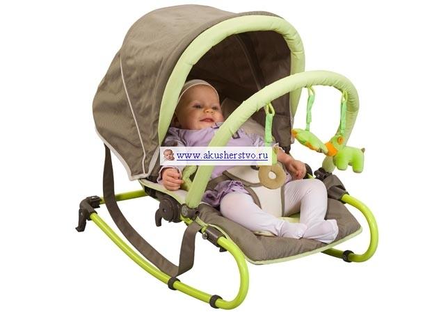 Babymoov Кресло-качалка с капюшоном А012418Кресло-качалка с капюшоном А012418Красивое функциональное кресло-качалка с капюшоном поможет удобно расположить малыша рядом с родителями.  Благодаря 5 позициям наклона спинки кресла, оно может быть использовано долгое время, начиная от рождения (максимальный вес ребенка 9 кг). Для совсем крошечных малышей сиденье оборудовано съемным подголовником и подушечкой для ног. Затем, когда ребенок подрастет их можно убрать.   Кресло может использовать и как качалка и как стационарный шезлонг. Благодаря удобной ручке для переноски и капюшону, который закрывает от солнца и света, малыша всегда можно взять с собой.  А трех точечные ремни безопасности сделают комфортным переезд. При этом есть возможность быстро сложить кресло и взять с собой в машину.   Ребенок во время лежания может быть занят игрушками, которые расположены на съемной дуге. Сидение можно стирать, это очень важно для обеспечения чистоты и гигиены.  Размеры товара: 63х40х48см В сложенном состоянии: 79х40х17см<br>