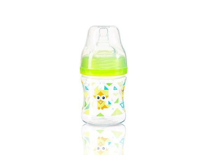 Бутылочки BabyOno Антиколиковая c широким горлышком 120 мл бутылочки для кормления
