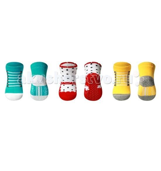 Колготки, носки, гетры BabyOno Носки из хлопка антискользящие Smile 0+ (1 пара) колготки носки гетры babyono носки из хлопка антискользящие smile 0 1 пара