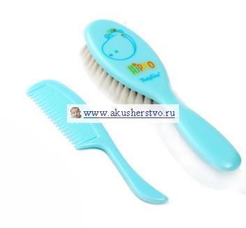 Уход за малышом BabyOno Щетка натуральная и расческа для волос