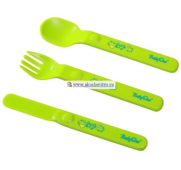 Столовые приборы BabyOno Столовые приборы пластмассовые столовые приборы кюп нож десертный alm3401061059