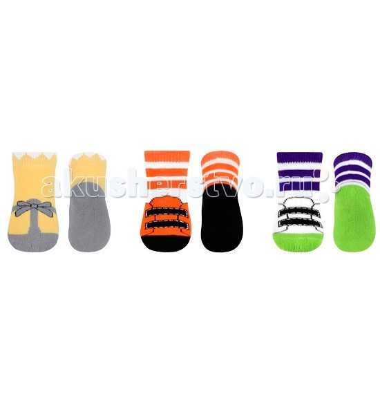 Колготки, носки, гетры BabyOno Terry носочки противоскользящие 0m+ 1 пара 2 0m 4pcs cloud
