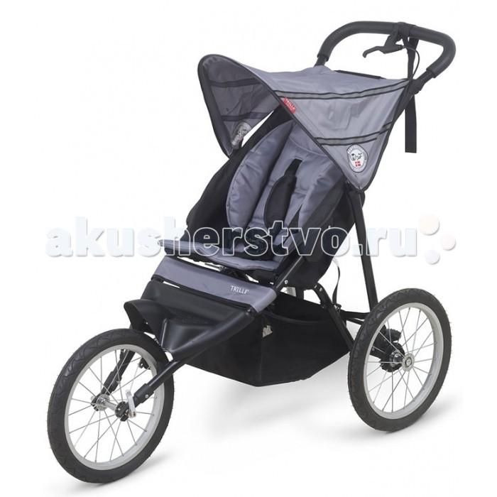 Прогулочная коляска BabyTrold Trille JoggerJoggerПрогулочная коляска BabyTrold Trille Jogger для детей от 6-ти месяцев.  Красивая, универсальная и современная коляска.  Бег на природе, прогулки по горам, пикник в лесу – получайте максимум впечатлений с BabyTrold Trille Jogger.  С данной моделью коляски Вы можете не отказывать себе в удовольствии заниматься спортом и просто вести активный образ жизни вместе с ребёнком с первых месяцев его жизни.  Особенности коляски BabyTrold Trille Jogger: Специально сконструированная алюминиевая рама для активных прогулок и пробежек. Удобное сиденье с 5-точечными ремнями безопасности позволяют ребёнку чувствовать максимальный комфорт даже во время пробежки. Капор надежно защищает ребенка от солнца. Удобный ручной тормоз. Регулируемый угол наклона спинки сиденья до 45 градусов. Ремешок безопасности для руки на ручке. Большие надувные колеса, 40.5 см. Вместительная корзина для покупок. Размеры коляски BabyTrold Trille Jogger: Размер в разложенном виде (ДхШхВ): 130 х 63 х 103 см Размер в сложенном виде с колёсами (ДхШхВ): 96 х 63 х 60 см Размер в сложенном виде без колёс (ДхШхВ): 86 х 50 х 25 см Максимальная нагрузка: 15 кг Высота ручки: 103 см Вес: 7 кг<br>
