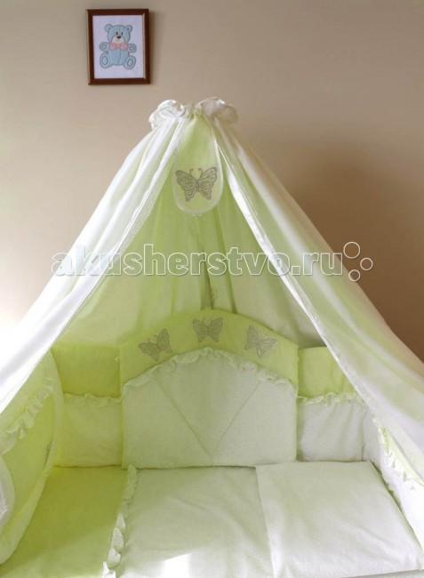 Комплекты в кроватку Балу Бабочка (8 предметов) балу аистенок розовый персиковый 8 предметов ш157 лето
