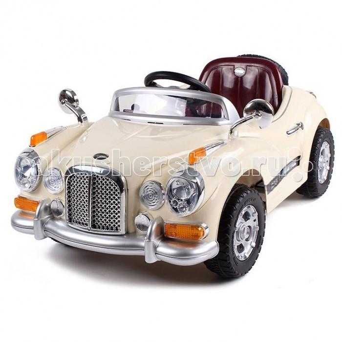 Электромобиль Bambini American CarAmerican CarЭлектромобиль Bambini American Car  Ретро дизайн, плавные линии, выразительные фары приведут в восторг вашего ребенка. Данный электромобиль отвечает всем нормам безопасности, он развивает скорость не больше 3-4 км/ч.  Ремни безопасности уберегут вашего ребенка от травм. Очень простое управление: одно нажатие на ножную педаль - автомобиль поехал, как только вы отпустите педаль, машина остановится.  Благодаря дистанционному пульту радиоуправления вы можете управлять транспортным средством на расстоянии 20 метров: вперед, назад, вправо, влево  Звуковые и световые эффекты, сигнал, свет фар. Колеса из прочного пластика с резиновым уплотнителем шириной 3 см, проходящим по окружности колеса для лучшего сцепления с дорогой.  Характеристики: 1 посадочное место индикатор заряда батареи: на сколько хватит аккумулятора аккумулятор 1 шт. 2х6V4AH зарядное устройство 220V запасное колесо сзади максимальная скорость 4 км/ч. 2 скорости вперед, 1 - назад резиновые накладки на колесах музыка MP3 и сигнал гудка горят габаритные огни, передние и задние фары 2 зеркала заднего вида (хром) высокое качество пластика и отличная детализация  Размер электромобиля: 97х60х43 см.<br>