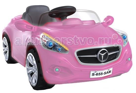Электромобиль Bambini Крутая тачкаКрутая тачкаЭлектромобиль Крутая тачка приведет любого ребенка в восторг. Имея уменьшенную копию автомобиля, ребенок сможет почувствовать себя настоящим водителем.   От 3 до 6 лет (нагрузка до 30 кг) 1 посадочное место Радиопульт управления: вперед, назад, вправо, влево на расстоянии 20 метров Аккумулятор: 12 V, 7 A/h Мотор: мощность 20 Вт Время работы 1 заряда батареи 1.5-2.5 часа Одна скорость вперед, одна назад 3-4 км/ч. Машина укомплектована 2 аккумуляторами и 2 двигателями Ремни безопасности Звуковые и световые эффекты, сигнал, свет фар Зеркала заднего вида Колеса из прочного пластика с резиновым уплотнителем шириной 3 см, проходящим по окружности колеса для лучшего сцепления с дорогой  Размеры электромобиля (ДхШхВ) - 116х74х50.5 см.<br>