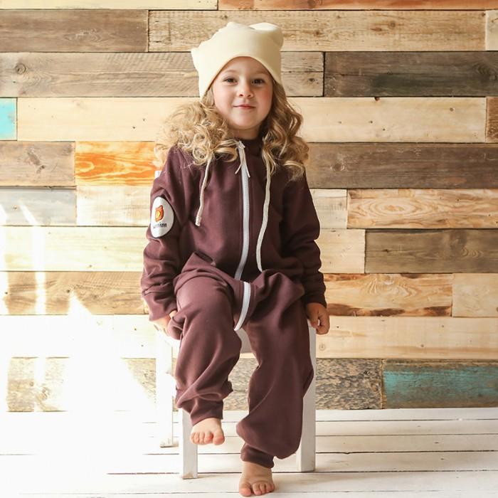 Детская одежда , Комбинезоны и полукомбинезоны Bambinizon Комбинезон из футера без капюшона на молнии арт: 326004 -  Комбинезоны и полукомбинезоны