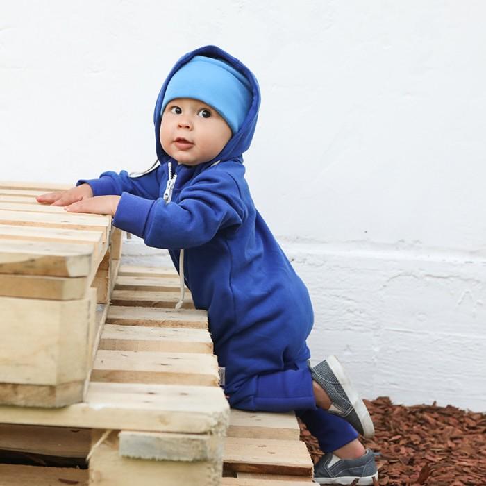 Детская одежда , Комбинезоны и полукомбинезоны Bambinizon Комбинезон из футера на молнии (отстегивающийся капюшон) арт: 326049 -  Комбинезоны и полукомбинезоны