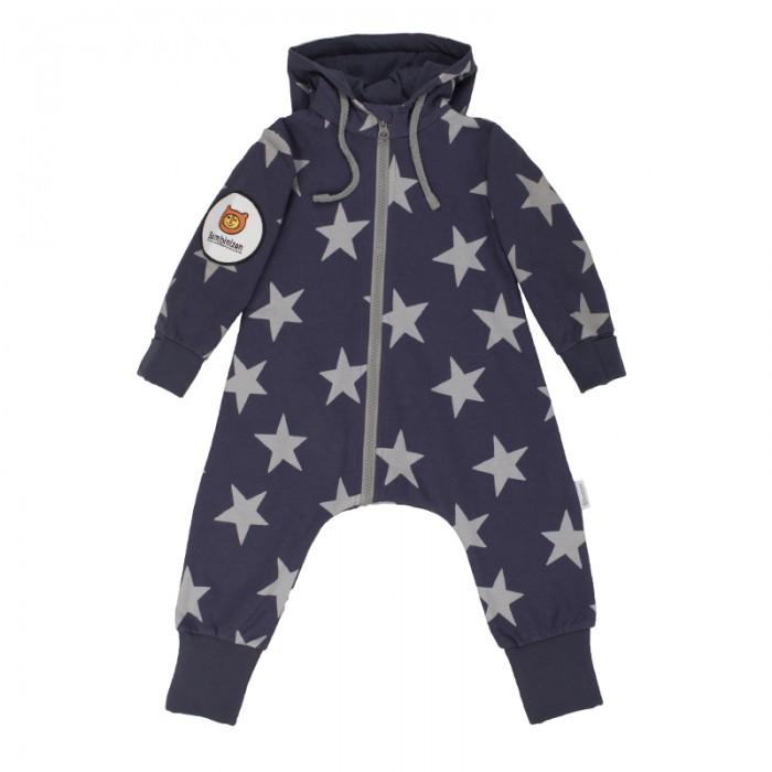 Детская одежда , Комбинезоны и полукомбинезоны Bambinizon Комбинезон из футера на молнии с втачным капюшоном Звезды арт: 487146 -  Комбинезоны и полукомбинезоны
