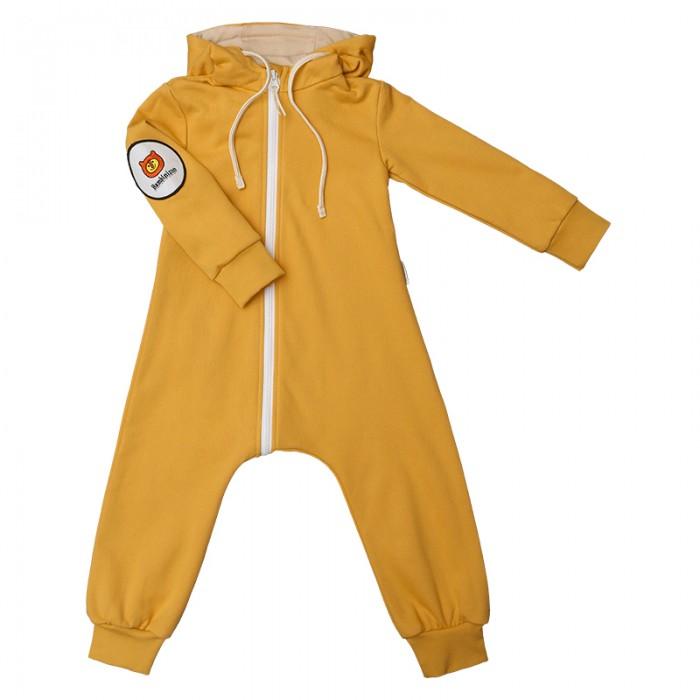 Детская одежда , Комбинезоны и полукомбинезоны Bambinizon Комбинезон из футера на молнии арт: 401554 -  Комбинезоны и полукомбинезоны