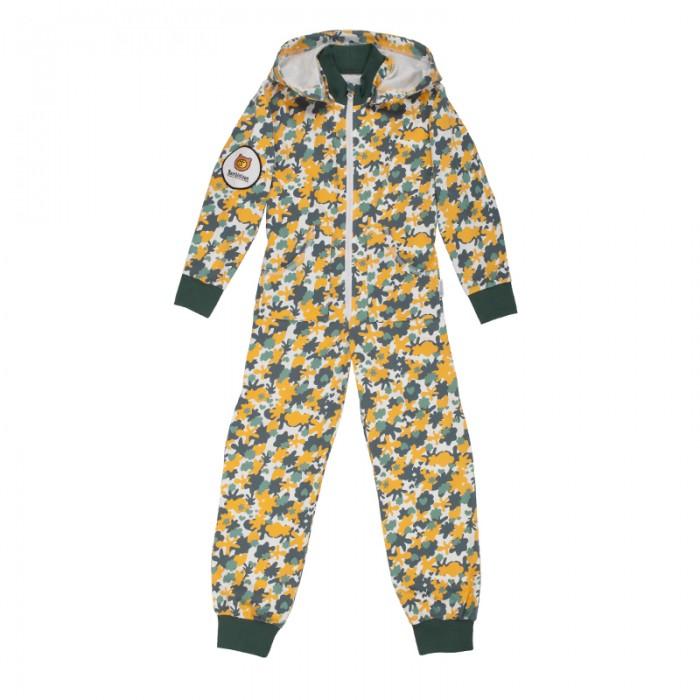 Детская одежда , Комбинезоны и полукомбинезоны Bambinizon Комбинезон из футера с двумя боковыми молниями и капюшоном Милитари арт: 487241 -  Комбинезоны и полукомбинезоны