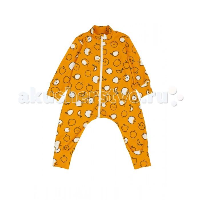 Пижамы и ночные сорочки Bambinizon Комбинезон-пижама на молнии Яблоки, Пижамы и ночные сорочки - артикул:549796