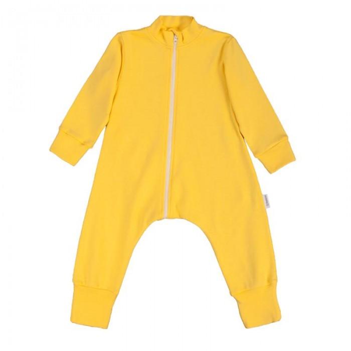 Пижамы и ночные сорочки Bambinizon Комбинезон-пижама на молнии Лимон пижамы и ночные сорочки bambinizon пижама комбинезон на кнопках сафари