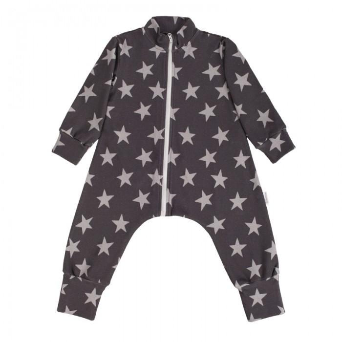 Пижамы и ночные сорочки Bambinizon Комбинезон-пижама на молнии Звезды пижамы и ночные сорочки bambinizon пижама комбинезон на кнопках сафари