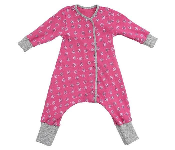 Детская одежда , Пижамы и ночные сорочки Bambinizon Пижама-комбинезон на кнопках Цветочный луг арт: 345065 -  Пижамы и ночные сорочки