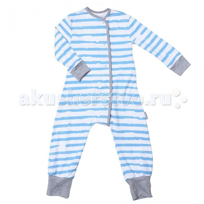 Пижамы и ночные сорочки Bambinizon Пижама-комбинезон на кнопках Море пижамы и ночные сорочки bambinizon пижама комбинезон на кнопках сафари