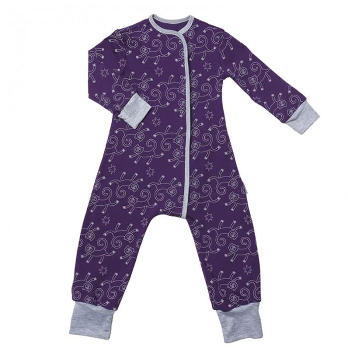 Пижамы и ночные сорочки Bambinizon Пижама-комбинезон на кнопках Обезьянки пижамы и ночные сорочки bambinizon пижама комбинезон на кнопках сафари