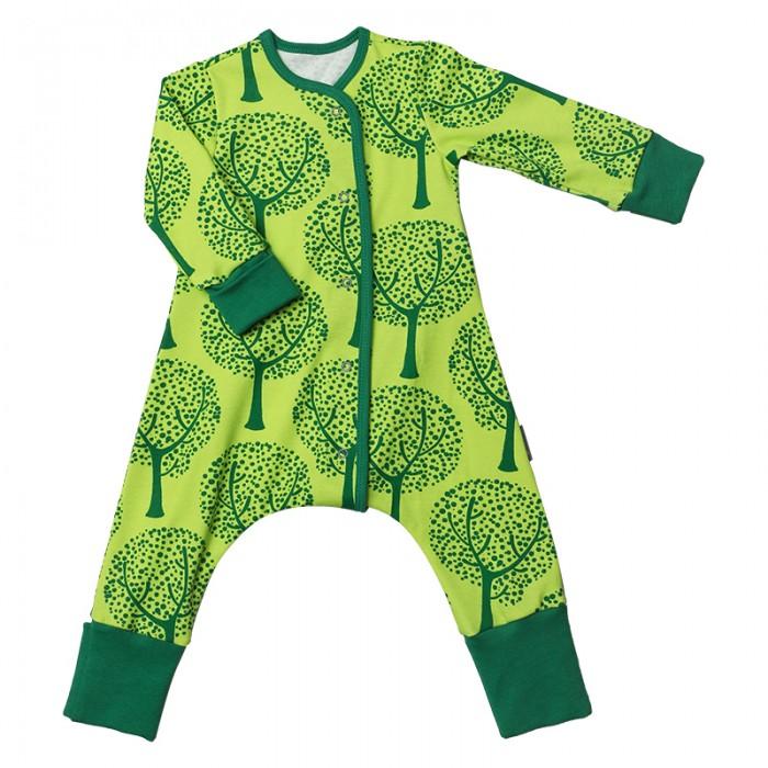 Детская одежда , Комбинезоны и полукомбинезоны Bambinizon Пижама-комбинезон на кнопках Деревья арт: 401194 -  Комбинезоны и полукомбинезоны