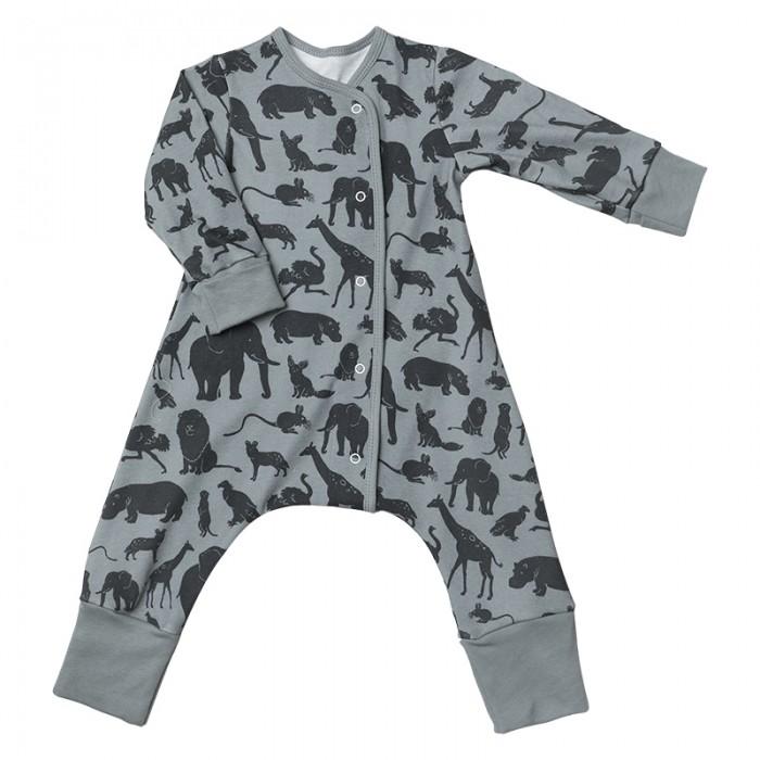 Пижамы и ночные сорочки Bambinizon Пижама-комбинезон на кнопках Сафари пижамы и ночные сорочки bambinizon пижама комбинезон на кнопках сафари