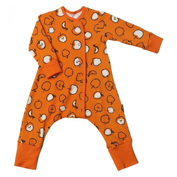 Детская одежда , Комбинезоны и полукомбинезоны Bambinizon Пижама-комбинезон на кнопках Яблоки арт: 401549 -  Комбинезоны и полукомбинезоны